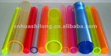 Light diffusing polycarbonate tubes