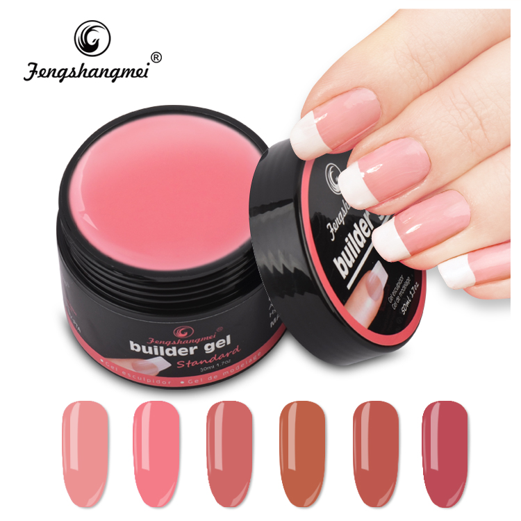 Professional global builder gel pink nails uv gel