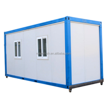 china prefab flat pack cabin cargo 20ft mobile container house with wheel