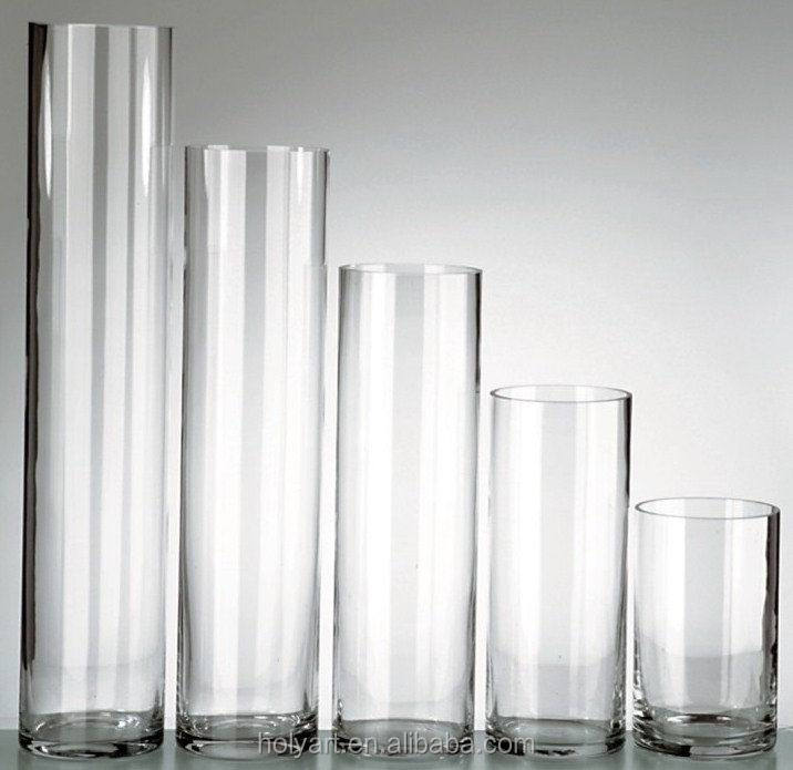 hot sale high quality custom made cheap tall glass vases wholesale