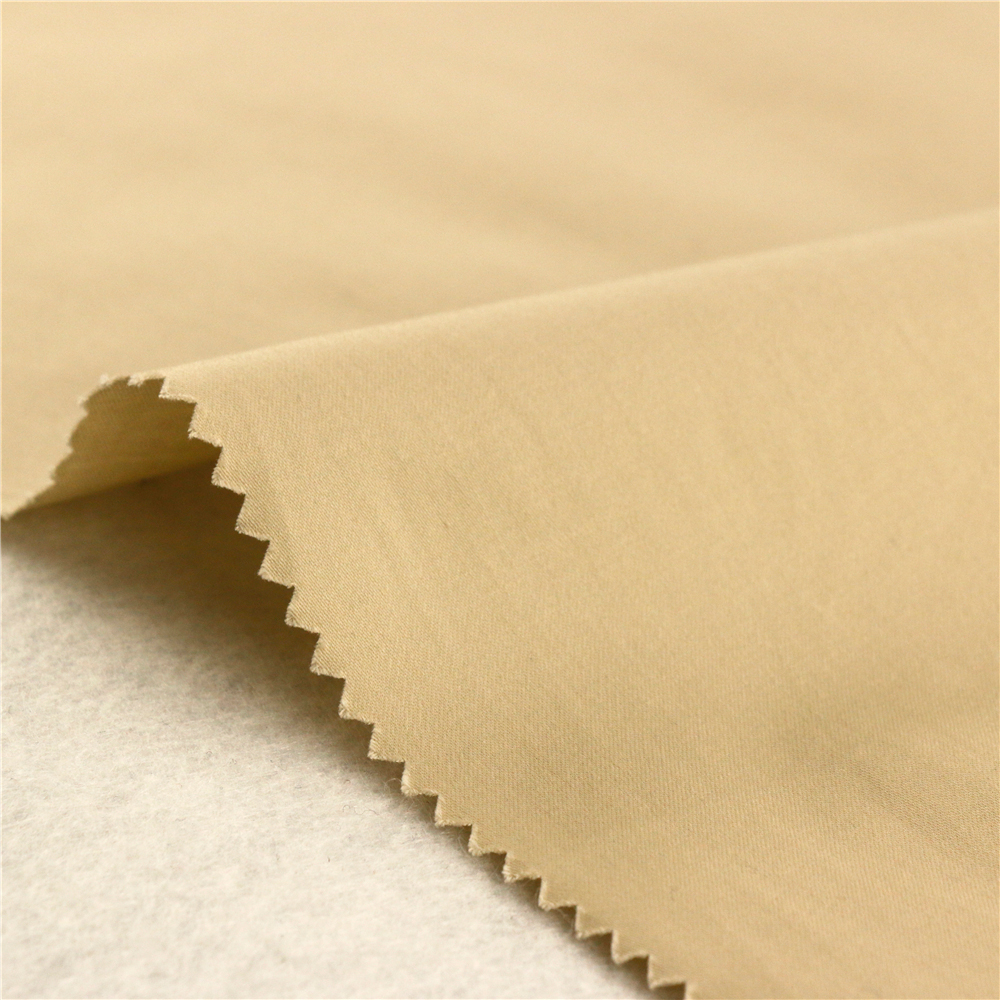 160Gsm Plain Woven Dyed Cotton Beige Dyed Sateen Fabric Textile In China