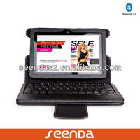 "Seenda For All New Kindle Fire HDX 7"" Tablet 2013 Model detachable Bluetooth Keyboard folio PU leather Case"
