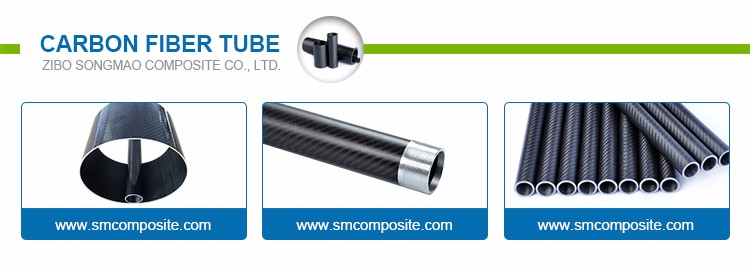 Roll wrapped carbon fiber round tube
