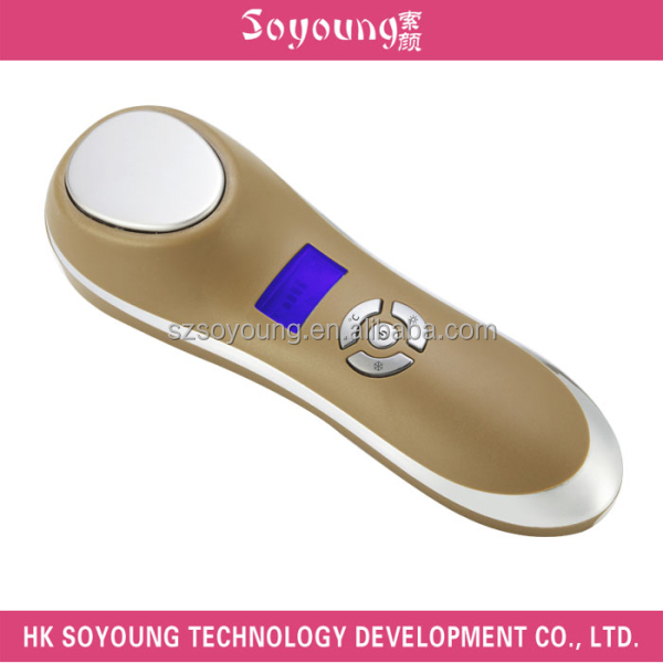 skin care facial mini led sonic ion hot and cold facial hammer