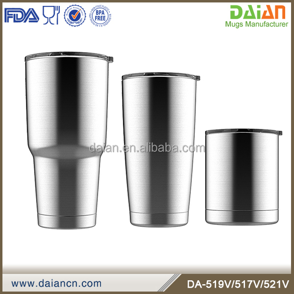 Newest BPA-free double wall stainless steel travel mug with push lid