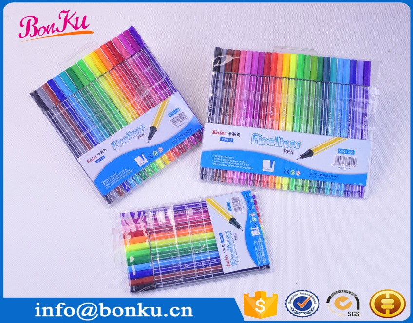 18/20/24/36/48/50 colors Amazon sell drawing sketch water color brush marker pen for coloring book