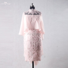 RSE709 Pink Cocktail Dress Evening Dress Short Godmother Bohemian Style Sexy Mother Of The Bride Dresses Free Photos