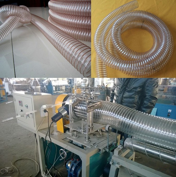 Flexible PU spiral steel wire Reinforced Hose PIPE manufacturing machine