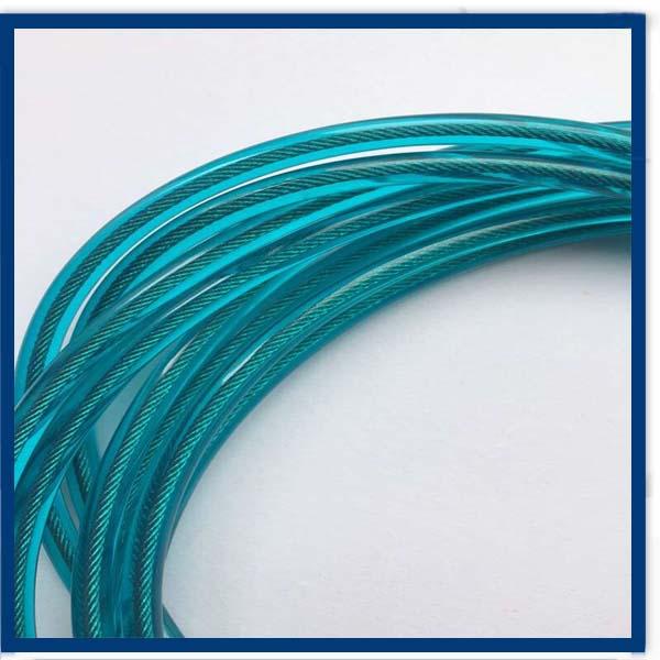 Colorido cuerda de alambre de acero inoxidable recubierto - Alambre de acero inoxidable ...