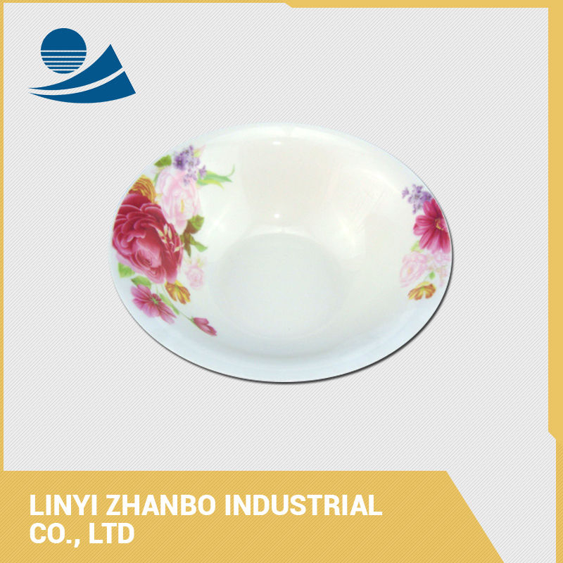 Chinese large white ceramic soup salad bowls