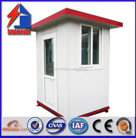 stainless steel prefab box portable kiosk booth sentry guard house