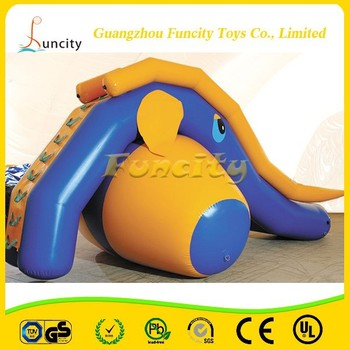 2015 new design inflatable slide elephant theme used on the beach