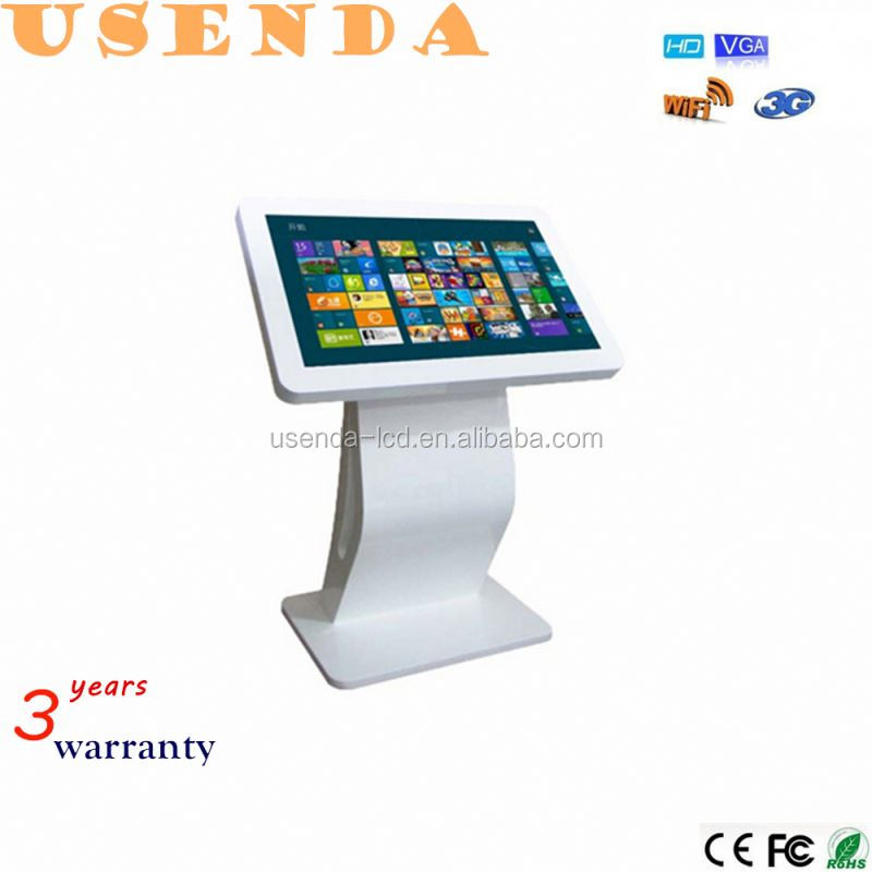 "32"" size screen stand lcd digital signage 32 inches lcd touch all in one interactive table touch kiosk"