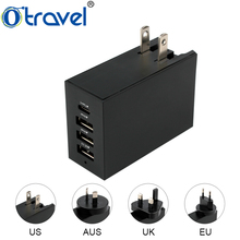 Small fashion fast type C charger 4 usb mobile wall charger with universal plugs