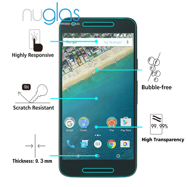 5.2 inch cellphone screen protector for Nexus 5X made by genuine asahi tempered glass