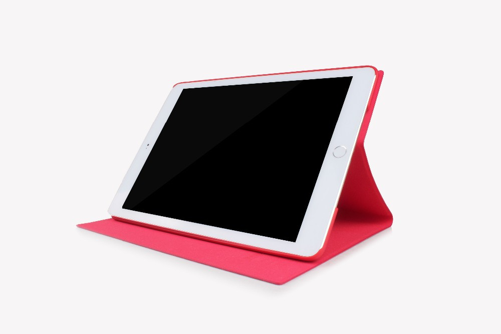 Ultra Slim Red PU Leather Back Smart Stand Case Cover for iPad Air