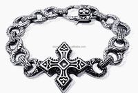 B276 Hot sale top quality high polished Classic heavy chain bracelet for men