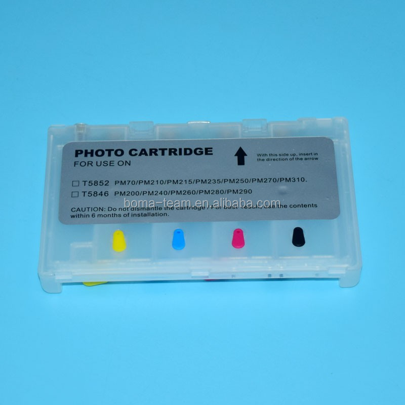 4 color refill ink cartridge T5846 for Epson PM280 inject printer