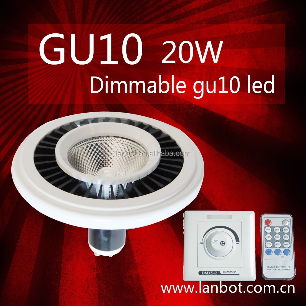 GU10 G53 Dimmable 20w ar111 led 12v for indoor use
