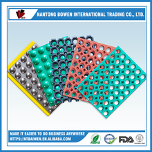 Anti slip Rubber hole mat with large holes grip rubber sheet perforated rubber sheet