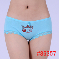 Cheap cartoon printed seamless ladies seamless hot panties young girls underwear