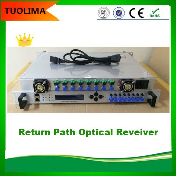 High Quality Return Path Optical Receiver With 8 way independent path receiving and amplifier