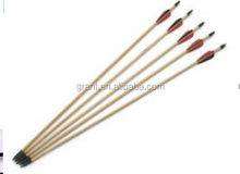 Factory wholesale bow arrwo black aluminum arrow with plastic archery
