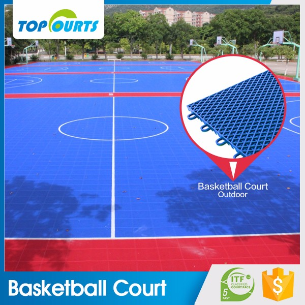 Anti slipping multi purpose waterproof plastic mat tile outdoor sport court flooring