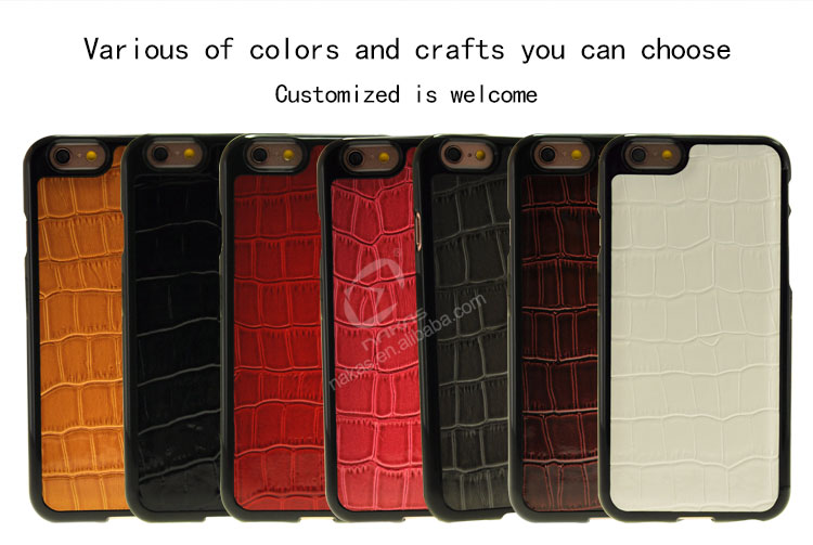 New arrival crocodile leather phone case for iphone6 case for wholesale
