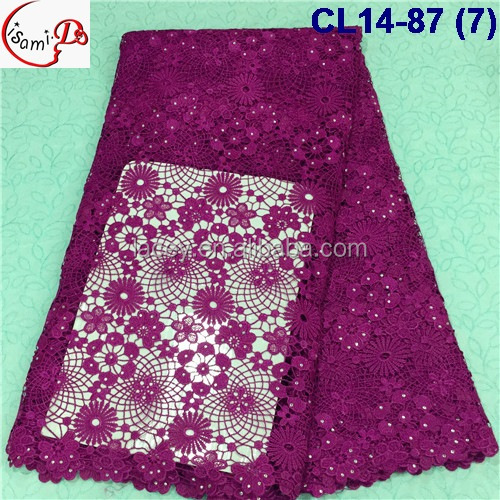 Cl1487 7 Multicoolors Fashion Design Embroidery Guipure