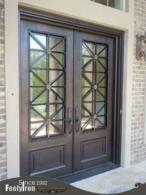 wrought iron front door china ornamental doors with sidelights screen for sale