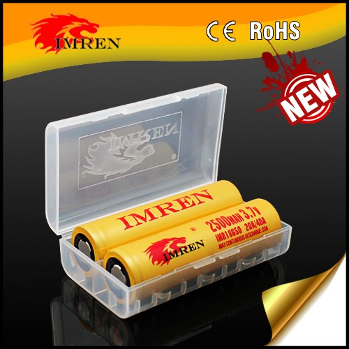 2017 newest IMREN 18650 2500mah 40a/20a gold rechargeable battery mod batteries 3500mah vtc6