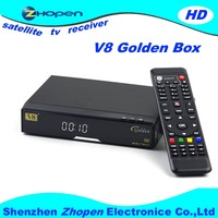 Best HD Satellite Receiver V8 Golden Support WEB TV,IPTV,Youtube,Youporn,Redtube