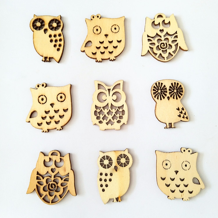 Customer Made Laser Cutting Wooden Owl Decoration