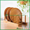 Eco Friendly Simple Bamboo Plate Rack