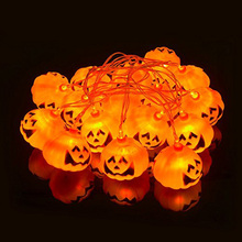 Battery Operated Decoration Halloween Pumpkin String Light with 16 LEDs
