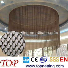 metallic coil drapery for light decoration/office curtain