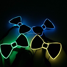 light up flashing glow bow Tie ,Glow EL Wire Neck Tie for for parties, clubs, festivals, raves, concerts and clubs
