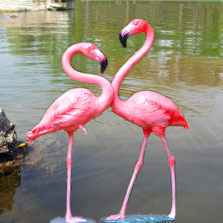 Life size pink yard garden flamingo statues for sale