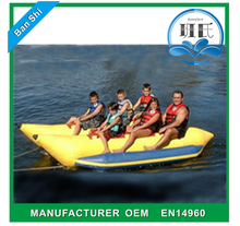 Professional manufactuer inflatable pontoon boat, inflatable banana boat for sale