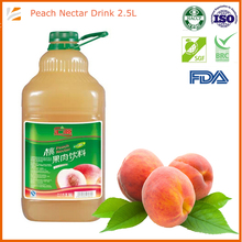 2500ml bulk peach fruit juice with fruit pieces wholesale