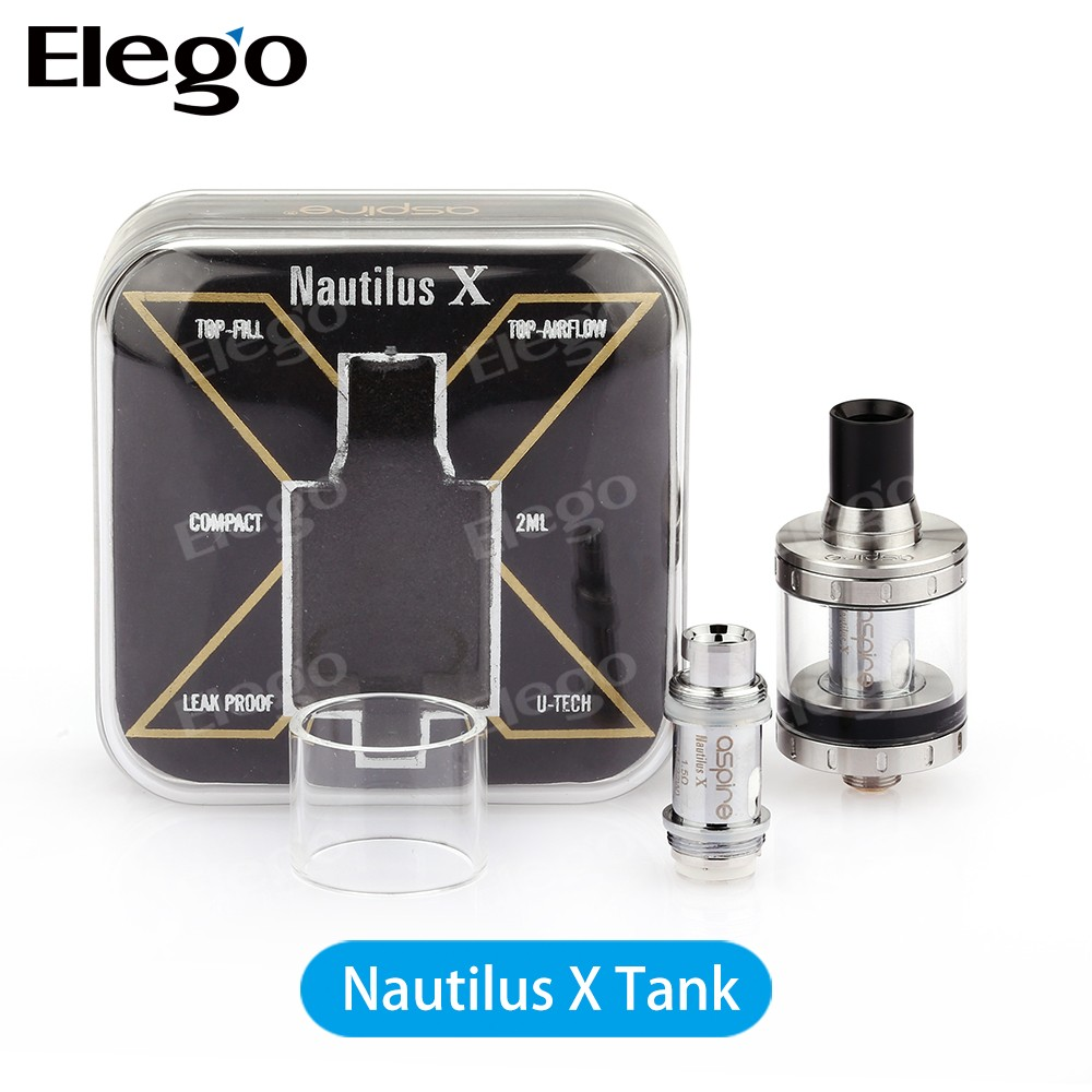 Aspire Nautilus X tank 2ml atomizer 1.5ohm u-Tech coil updated Nautilus X VS Nautilus mini vs cubis pro