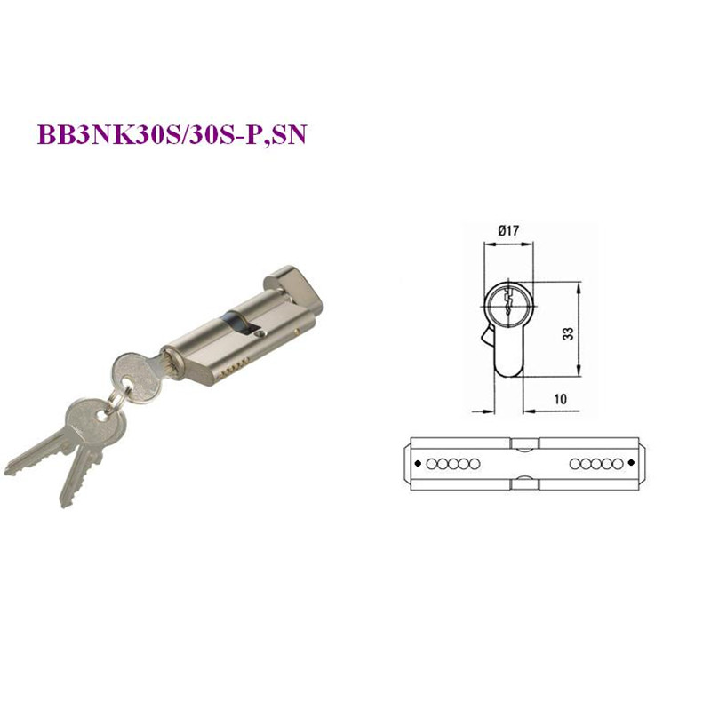 Double Cylinder Door KnobKnob CylinderOne Side Key One Side Knob