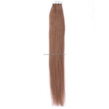 Top quality soft skin weft seamless hair extensions shedding free glue hair tape hair