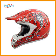 Full face dirt bike racing skull half face motorcycle helmet