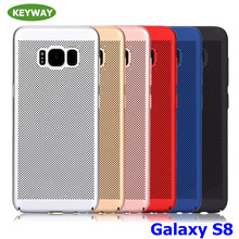 NEW!!Honeycomb Design Slim PC Cover Heat Dissipation Summer Cool Phone Case For Samsung Galaxy S8 Plus