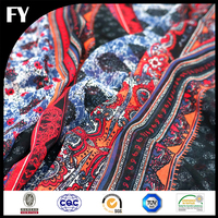 Factory Direct Custom Digital Printed Floral Pattern Silk Chiffon / Georgette Fabric For Dress