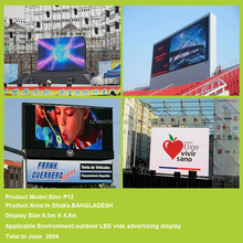 standing smd outdoor fullcolor video p10 indoor advertising 6mm led display screen