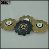 Bicycle hybrid ceramic bearing bicycle rear derailleur pulley