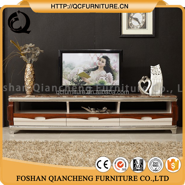 high quality unique marble top led tv stand tv table